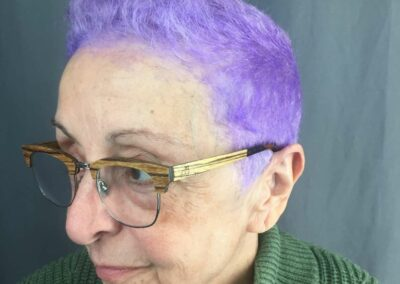 Person with light purple hair.