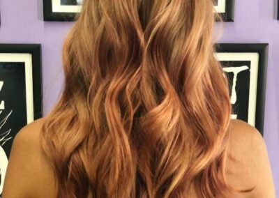 Person with two toned, wavy hair.