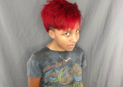 Person with red hair.